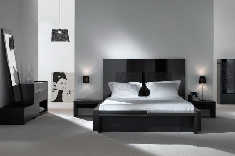 Contemporain-noire-et-blanche-chambre-à-coucher-design7