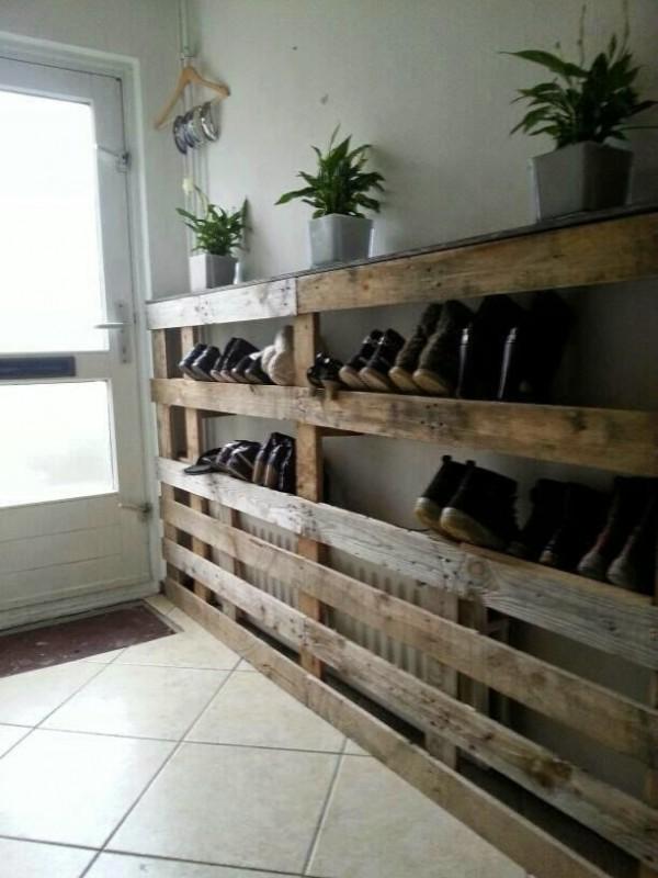 astuce-rangement-chaussures-palette