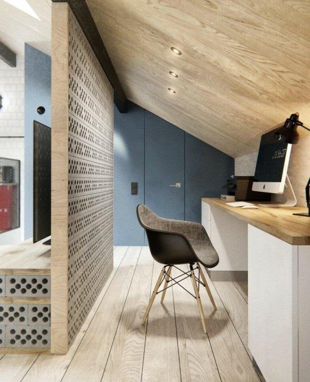 cloison-perforé-parpaing-sépare-salon-bureau-à-domicile