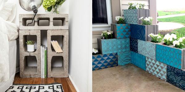 12 fa ons tonnantes de recycler les parpaings. Black Bedroom Furniture Sets. Home Design Ideas