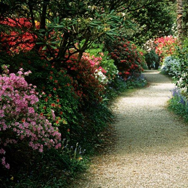 allee de jardin en cailloux amazing bordures de jardin rustique pour alles de jardin en gravier. Black Bedroom Furniture Sets. Home Design Ideas