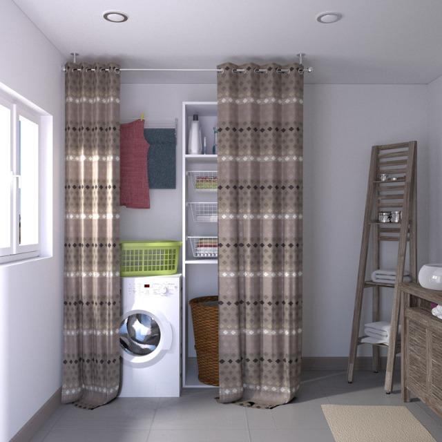 7 trucs pour d tourner les rideaux avec brio for Dressing ferme par un rideau