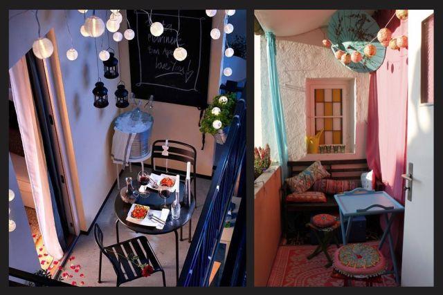 9 id es pour bien am nager un petit balcon. Black Bedroom Furniture Sets. Home Design Ideas
