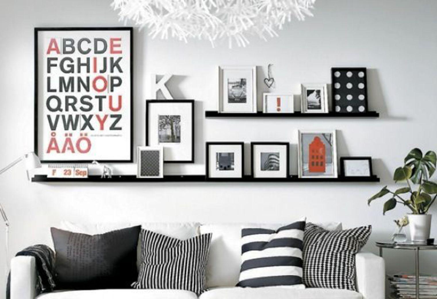 10 Conseils Pour D Corer Un Pan De Mur # Deco Salon Avec Etagere Murale