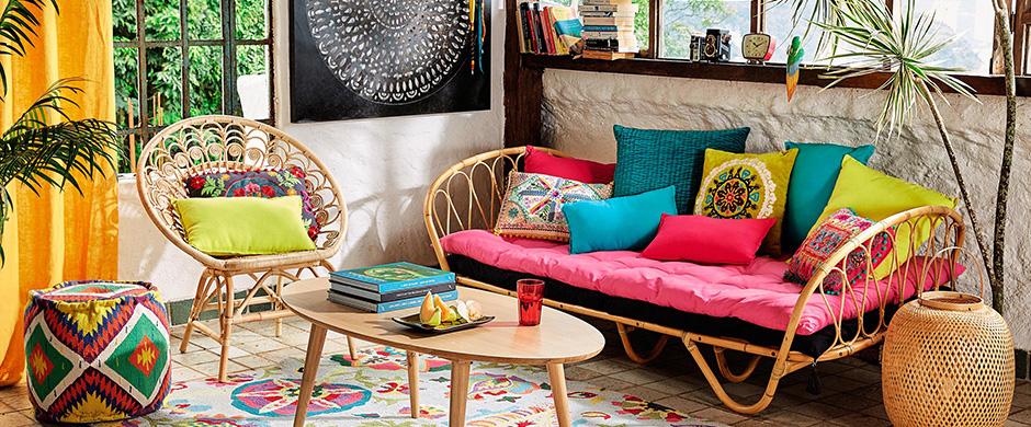 11 conseils pour avoir un salon au look gipsy. Black Bedroom Furniture Sets. Home Design Ideas