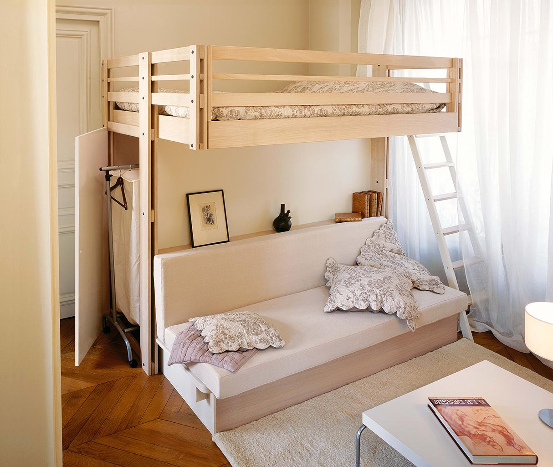 10 fa ons d optimiser l espace avec les lits mezzanine. Black Bedroom Furniture Sets. Home Design Ideas